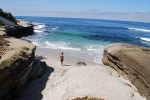 blud sand beach ocean water blue
