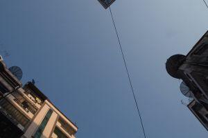 blue city sky outdoor
