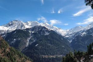 blue sky mountain nature himalayas malana kasol