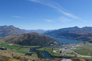 blue sky mountain new zealand vacation trip aerial explore panorama roads adventure