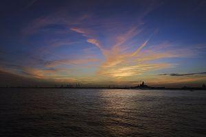 blue sky outdoorchallenge industrial mobile bay skyline bay sunset