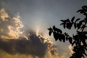 blue sky sunrise dark sky