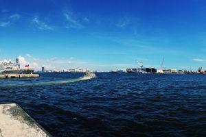 blue water #mobilechallenge iphone 6 plus kaohsiung taiwan panorama port ship harbor