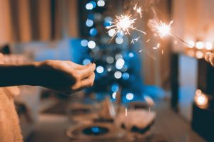 blur focus lights background hot celebration sparklers close-up bright holiday