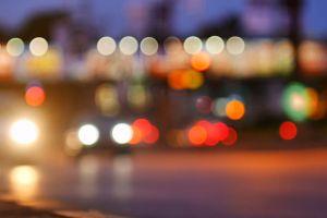 blurry blurred vehicles lights cars
