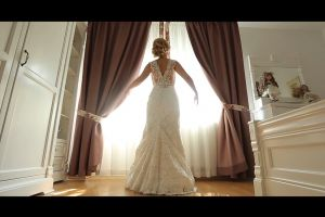 bride gown woman marriage indoors dress fashion video shoot i love you beautiful