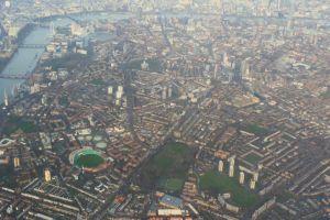 bridge aerial shot city high angle shot buildings