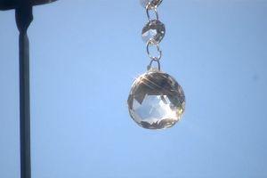 bright daylight light shine crystal hanging