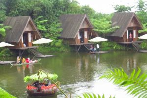 building lake vacation tourist destination tourist attraction fresh chill bandung green indonesia vacation