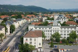 buildings vehicles town road