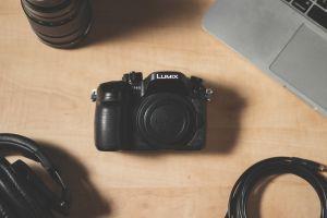 camera lens desk headphones creative camera equipment camera