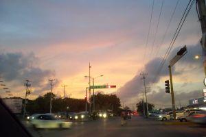 cancun downtown mexico sunset cancun