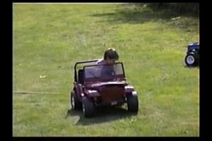car young crash toy scare mom and dad jeep shit happens wreck child toy car automotive