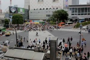 cars buildings street time-lapse people crossing crowded pedestrian lane crowd vehicles