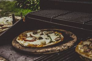 cheese pizza food pepper meat bbq food photography green pepper oven pizza oven