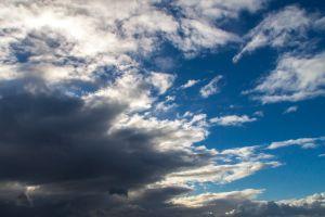 clouds blue sky dark storm dramatic sky