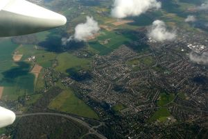 clouds passenger view wing aerial view london holiday jet