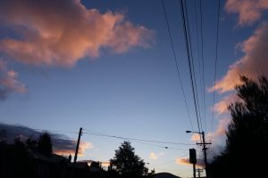 clouds sunset street