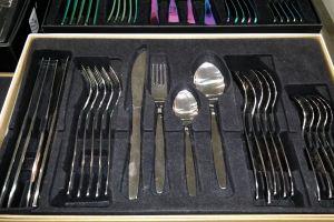color cutlery metal silver fork spoon