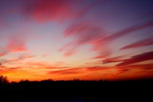 colorful sunset sunset estonia