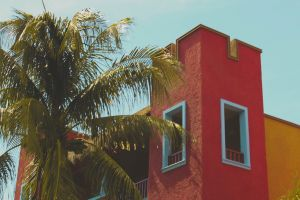 colours holiday building mexico