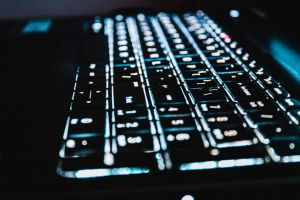 computer keyboard keyboard blue light technology blur laptop hd wallpaper illuminated keys backlight
