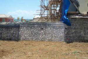 concrete facade building abandoned wall brick wall caribbean abandoned building brick