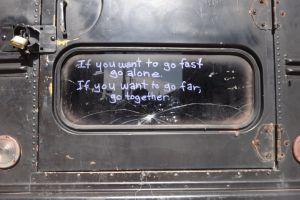 cracked window black leo agpawa together quote writing tagging door purple art