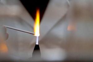 creative fire flame art melting heat glass