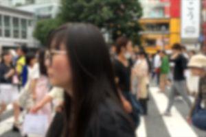 crossing street people pedestrian blur crowd