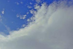 cumulus sky blue clouds sky white