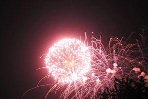 dark fireworks night sky lights new year's eve