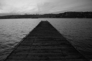 dark lonely melancholic sea