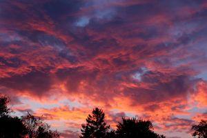dark sky colorful cloudy sky