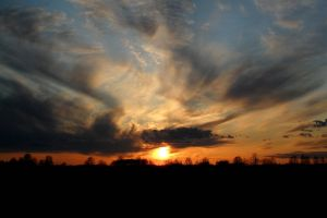 dark sky sunset estonia