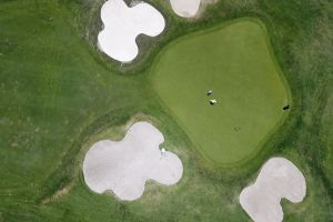 daylight from above people time-lapse weather green golf course golfers field golf