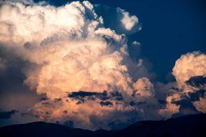daylight mountains sky cumulus clouds scenic cloudscape nature