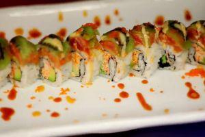 delicious restaurant plating food sushi lunch dimsum