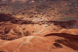 desert dry landscape arid geology high angle shot sand mountain sandstone hot