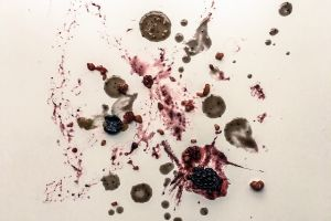 dirty surface dirty white surface food still life messy dirty splatter raspberries mess food photography