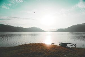 early morning camp adventure boat people water nature photography green nature