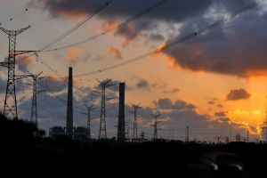electricity time-lapse night sky dawn utility poles evening clouds electrical poles
