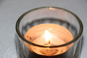 evening candle night light fire glass flame