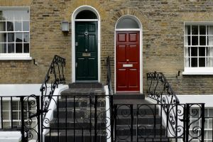 exterior doors colour paint steps