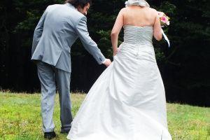 family groom husband ceremony married wedding future love grass field wife