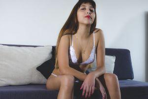 fashion model photo shoot body hair sexy woman lingerie underwear make up
