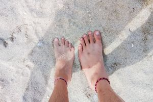 feet relationship matchy goals couple anklet sand beach anklet