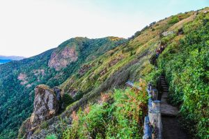 fence landscape scenic mountain high environment path