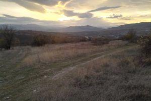 field light clouds sunset