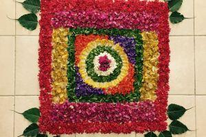 flower bed flowers onam